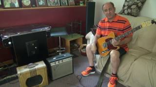 Fender Champ vrs Valco 6V6 Class A tube guitar amp demo by D-lab