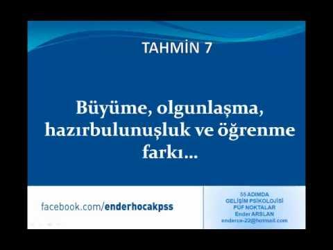 KPSS EĞİTİM BİLİMLERİ, GELİŞİM PSİKOLOJİSİ PÜF NOKTALAR - PART 2