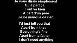 Si Seulement Je Pouvais Lui Manquer - Calogero - French (subs francais -anglais-French-English)