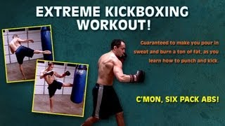 Lose 10 pounds in a month with Extreme Kickboxing Workout