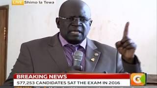 Prof Magoha on #KCSE2016 Results
