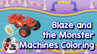 Blaze and the Monster Machines Color Racing Game in Water by Ryder Ntense Kid
