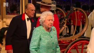 Queen Elizabeth arrives for 90th birthday celebrations