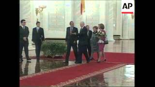 RUSSIA: MOSCOW: KING JUAN & QUEEN SOPHIA OF SPAIN VISIT CONTINUES