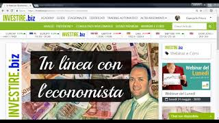 """Registrazione Webinar """"In linea con l'economista"""""""