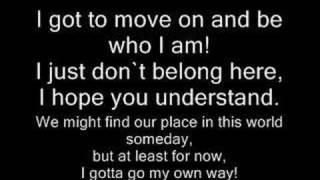 I gotta go my own way by vanessa hudgens W/LYRICS