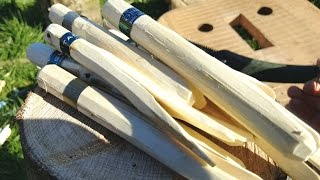 Making Traditional Wooden Clothes Pegs or Pins