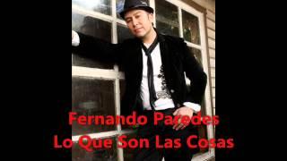 Lo Que son las Cosas- Cover- Fernando Paredes