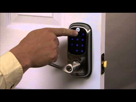Z Wave Yale Real Living Keyless Touchscreen Z Wave Lever