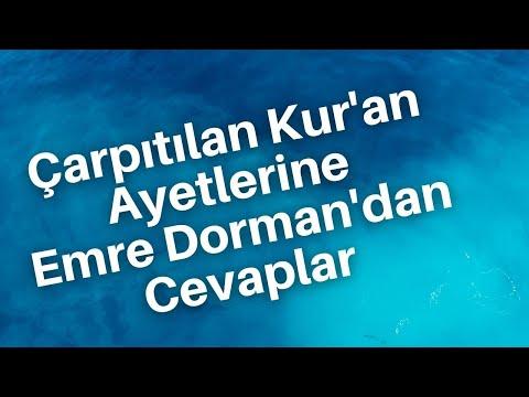 Çarpıtılan Kur'an Ayetlerine Emre Dorman'dan Mükemmel Cevaplar