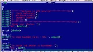 C Program to Display the ATM Transaction width=