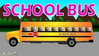 School Bus for Children | School Bus Cartoons for Children | School Bus Videos for  Children