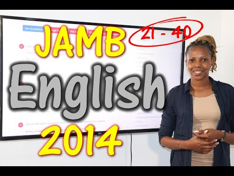 JAMB CBT English 2014 Past Questions 21 - 40