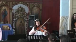 """Ligia Crișan - secțiunea INTERPRETARE (vioară) a concursului """"Prietenii Compozitorilor"""" Beiuș"""