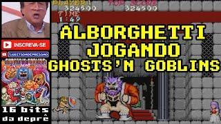 Alborghetti jogando Ghosts N' Goblins