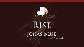 Jonas Blue - Rise ft. Jack & Jack - HIGHER Key (Piano Karaoke / Sing Along)