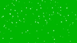 GREEN SCREEN HEAVY SNOW