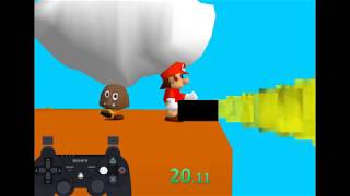 Mario Pissing 64 - any% IPC Speedrun in 45 seconds WORLD RECORD