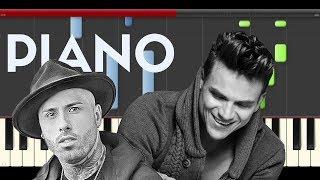 Silvestre Dangond Nicky Jam Casate Conmigo Piano Midi tutorial Sheet app Cover Karaoke