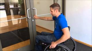 Opening Doors From a Wheelchair
