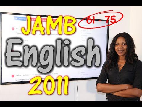 JAMB CBT English 2011 Past Questions 61 - 75