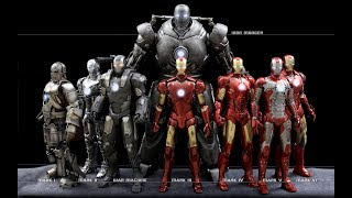 IRON MAN ALL SUITS NAMES AND MOVIE NAME (MARK 1 TO MARK 47)