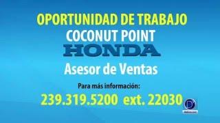 Coconut Point Honda busca asesor de ventas
