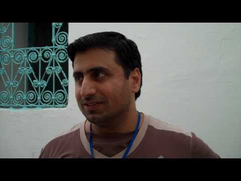 Khalil Abdulwahid discusses painting a collaborative mural at the Assilah Festival 2010