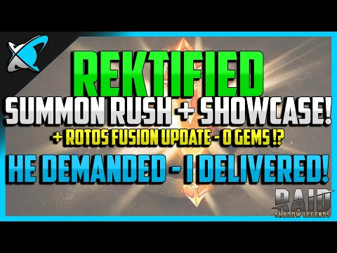 RAID: Shadow Legends| Summon Rush + Quick Showcase (Rektified) | A LEGENDARY !?!