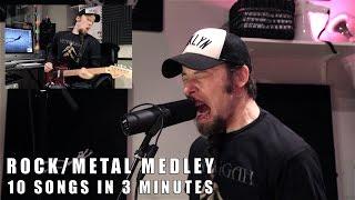 10 rock/metal songs in 3 minutes