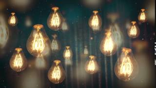 Best Backround Video - Moving Vintage Light Bulbs VIDEO BACKGROUND