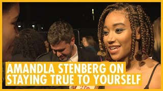 "Amandla Stenberg ""What Makes us All Human"" - The Hate U Give London Premiere"