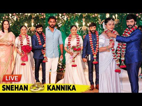 ❤️LIVE: Snehan & Kannika's Lovely Moments Captured😍 Full Reception Video👫🏻