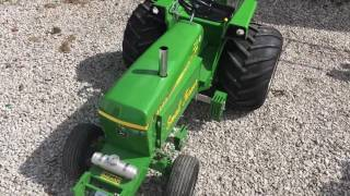 John Deere 1/4 Scale Gas Tractor Selling at Auction
