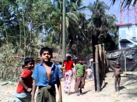 In a village on Moheskali island, Bangladesh