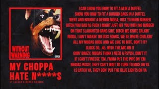 "21 Savage & Metro Boomin - ""My Choppa Hate N****s"" (Official Lyrics)"