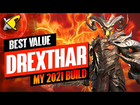 MY UPDATED DREXTHAR BUILD FOR 2021 | Masteries & Guide | Best Budget Builds | RAID: Shadow Legends