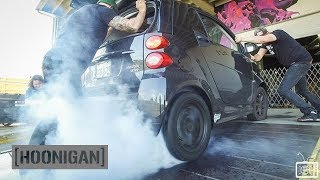 [HOONIGAN] Daily Transmission 012: Electric Smart Car Burnouts, Donuts and Other Bad Ideas