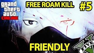 FREE ROAM KILL #5: FRIENDLY GTA Online | Samurai Trap Music & Bass Japanese