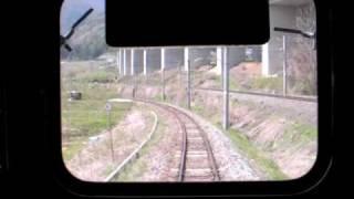 篠ノ井線のスイッチバック Shinonoi Line switchback