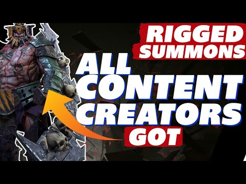 Rigged summons. All content creators got King Garog! #KingGate2021 Raid Shadow Legends