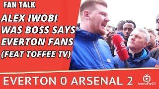 Alex Iwobi Was Boss says Everton Fans (Feat Toffee TV)   Everton 0 Arsenal 2