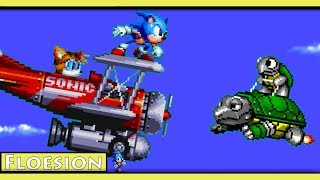 Sonic Mania : Sky Chase Zone (Sonic Sprite Animation)