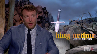 Backstage with Director Guy Ritchie for KING ARTHUR: LEGEND OF THE SWORD