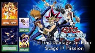 YuGiOh! Duel Links - Effect Damage Deck for Stage 17 & 26 vs Tea Lv 10