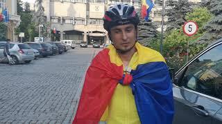 Beniamin Marcu la Botosani, dupa ce a pedalat de la Londra