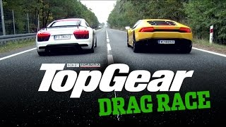 Audi R8 V10 Plus Vs Audi Rs6 Vs Audi S8 Top Gear Drag Races Cover