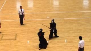 H27全国警察剣道選手権 女子準々2 山本・大阪 対 津田・兵庫