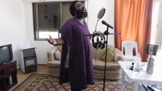 Fred Genius Freestyle Praising AHAYA In The Studio Early In The Morning(Hebrew Music)