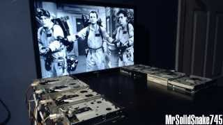 Ghostbuster's Theme on eight floppy drives